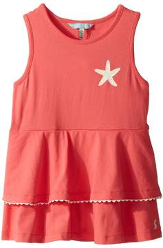 Joules Kids Double Peplum Jersey Tank Top Girl's Sleeveless