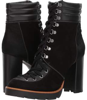 Matteo Massimo Lace-Up Heel Bootie Women's Lace-up Boots