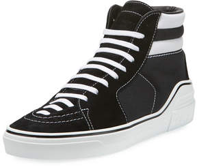 Givenchy Men's George Canvas High-Top Sneakers, Black/White