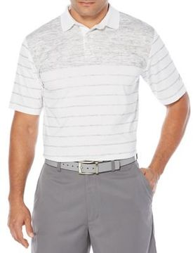 Callaway Opti-Dri Space Dyed Colorblock Striped Short Sleeve Polo Golf Shirt