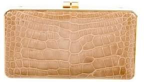 Judith Leiber Alligator Box Clutch