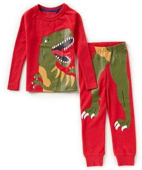 Joules Little Boys 3-6 Long-Sleeve Dinosaur Top & Pants Pajama Set