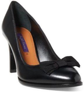 Ralph Lauren Loralle Luxe Calf Pump Black 6.5