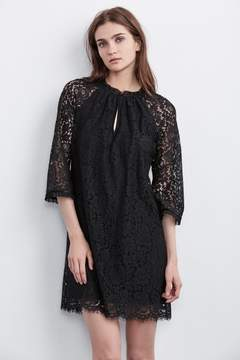 Velvet by Graham & Spencer JULIENNE LACE MOCK NECK DRESS