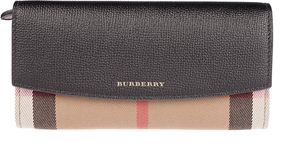 Burberry House Check Continental Wallet - BLACK - STYLE