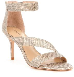 Antonio Melani Jaydyn Banded Glitter Ankle Strap Dress Sandals