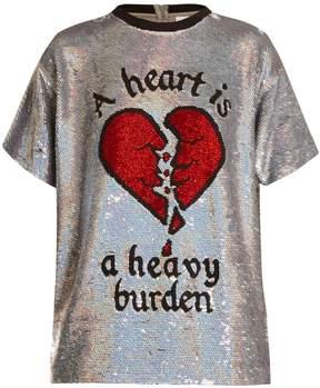 Ashish Broken heart sequin-embellished silk top