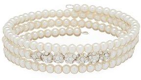 Cezanne Faux-Pearl & Fireball Coil Bracelet