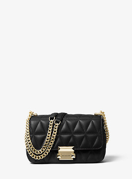 Michael Kors Sloan Small Quilted-Leather Shoulder Bag - BLACK - STYLE