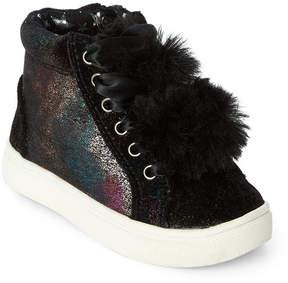 Steve Madden Kids Girls) Black JBrielle Pom-Pom High Top Sneakers