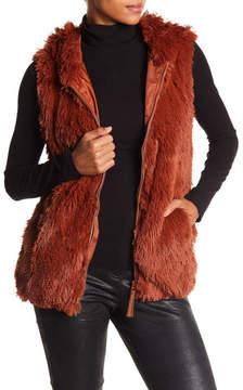 Angie Faux Fur Vest Hoodie