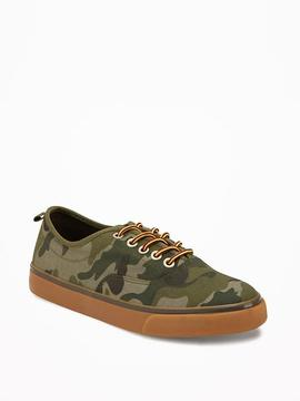Old Navy Canvas Lace-Up Sneakers for Boys