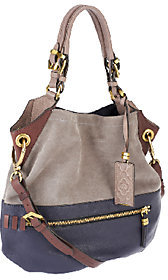 orYANY Sydney Suede and Leather Hobo