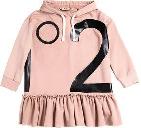 N°21 Hooded Logo Printed Cotton Dress