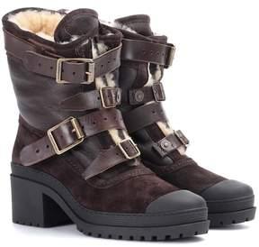 Burberry Dukesbridge fur-lined suede ankle boots