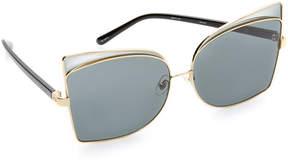 No.21 No. 21 Butterfly Oversized Sunglasses