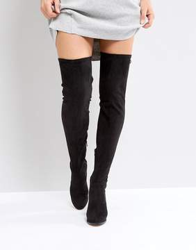 Asos KINGSHIP WIDE LEG Heeled Over The Knee Boots