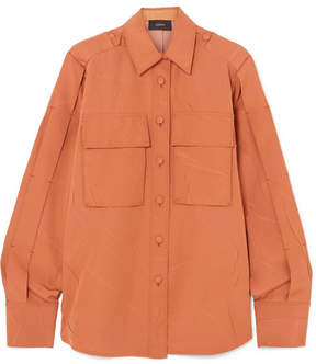 Joseph Jim Oversized Crinkled-crepe Shirt - Tan