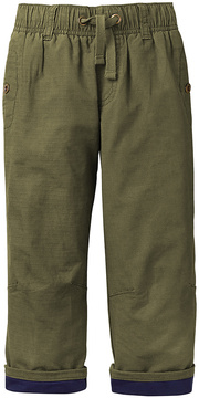 Gymboree Olive Jersey-Lined Ripstop Pants - Toddler & Boys
