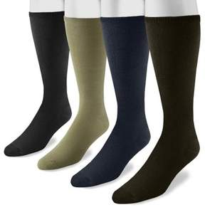 Muk Luks Men's 13 Rayon from Bamboo 4 Pair Sock Pack