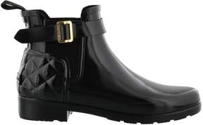 Hunter Gloss Quilt Chelsea Boots