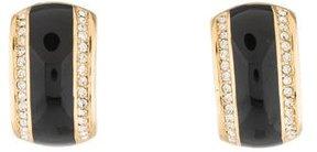 Christian Dior Enamel & Crystal Clip-On Earrings