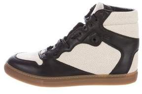 Balenciaga Leather & Canvas Sneakers w/ Tags