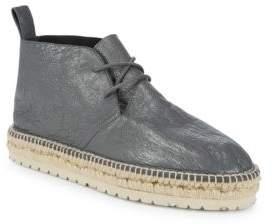 Balenciaga Leather Lace-Up Espadrilles