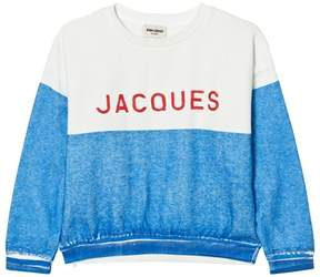 Bobo Choses Blue and White Jacques Sweatshirt