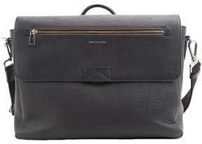 Paul Smith Men's Blue Leather Messenger Bag.