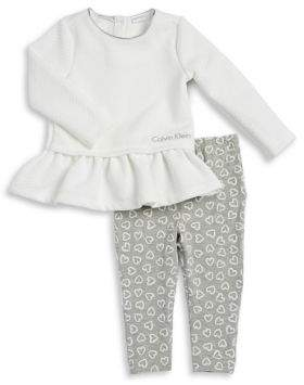 Calvin Klein Jeans Baby Girl's Two-Piece Top & Pants Set