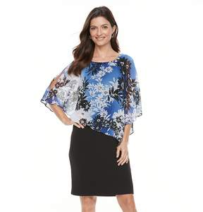 Connected Apparel Women's Floral Popover Dress
