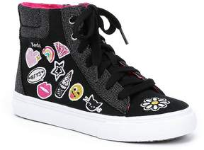 Keds Girls' Double Up High Top Emoji Sneakers