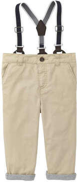 Joe Fresh Baby Boys' Suspender Pant, Tan (Size 6-12)