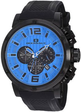 Oceanaut Spider Mens Blue Dial and Black Silicone Strap Watch