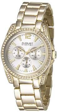 August Steiner Gold-tone Metal Silver Dial Quartz Ladies Watch