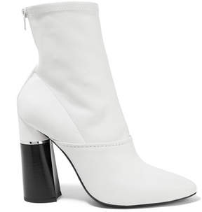 3.1 Phillip Lim Kyoto Leather Sock Boots - White