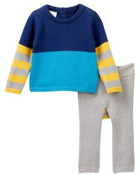 Cuddl Duds Colorblock Sweater & Pants Set (Baby Boys)
