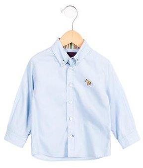 Paul Smith Boys' Long Sleeve Button-Up Shirt