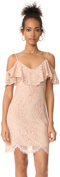 WAYF Luxia Off Shoulder Ruffle Lace Dress