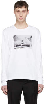 Helmut Lang White Walter Pfeiffer Edition Long Sleeve Hands 1984 T-Shirt