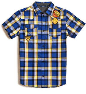 GUESS Short-Sleeve Plaid Shirt (7-18)