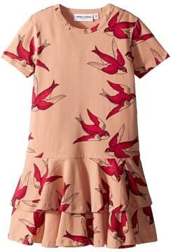 Mini Rodini Swallows Frill Dress Girl's Dress