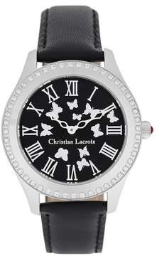 Christian Lacroix Women's Butterfly Crystal Quartz Watch, 37.5mm