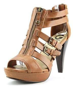 G by Guess Huiza Women Open Toe Synthetic Brown Sandals.
