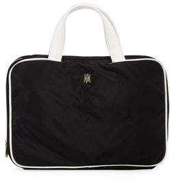Neiman Marcus Zip-Around Nylon Makeup Train Travel Bag