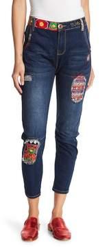Desigual Embroidered Boyfriend Jeans