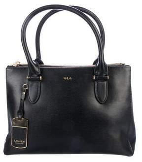 Lauren Ralph Lauren Leather Double Zip Satchel