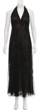 Carmen Marc Valvo Embellished Evening Dress