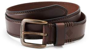 Columbia Men's Stitched Bridle Leather Belt